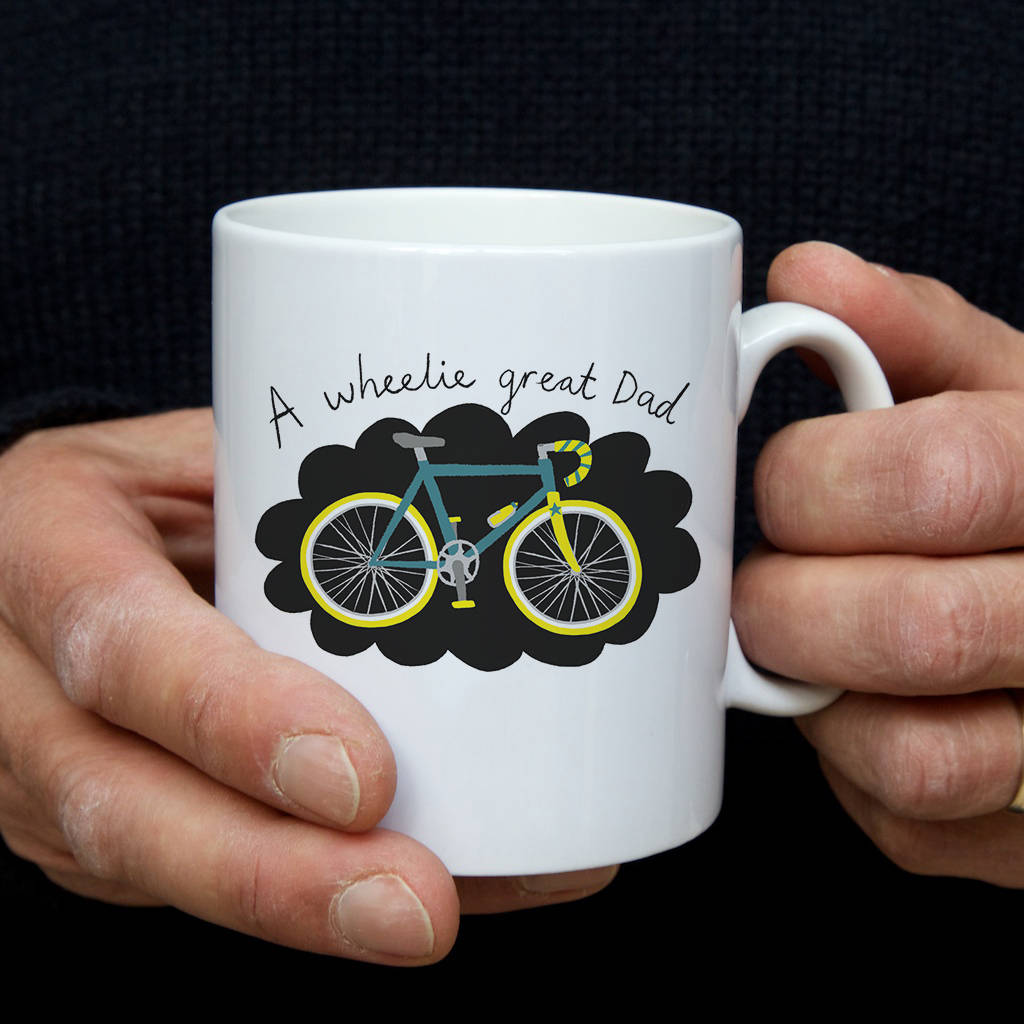 Wheelie great dad bicycle mug