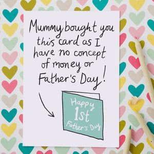 funny first fathers day card