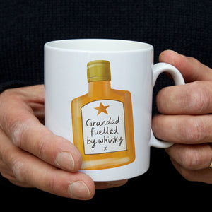 Fuelled by whisky mug for Dad or Grandad
