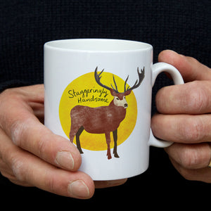 stag christmas mug gift for him