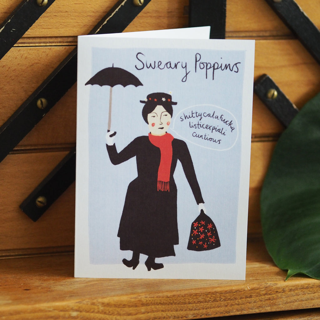 Sweary Poppins rude card