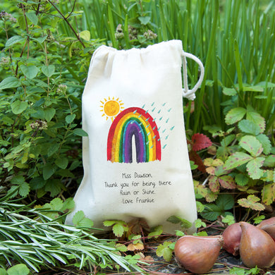 Rainbow gift bag with seeds for Teacher