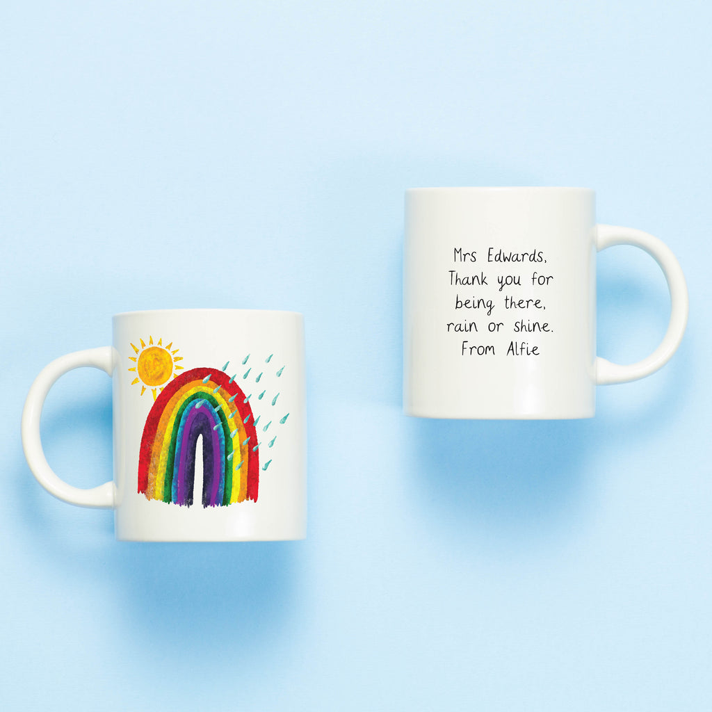 Rainbow Personalised Teacher Mug