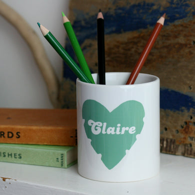 personalised desk tidy gift for her