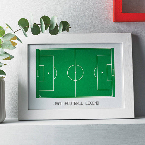 Football Pitch Quote Print (can be personalised)