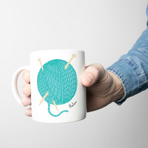 Personalised Mug For Knitters