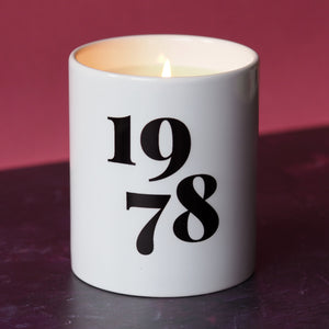personalised year candle