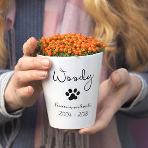 pet loss gift plant pot
