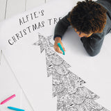 Patchwork Christmas Tree Colouring Poster