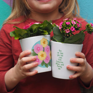 Primrose Personalised Plant Pot Gift