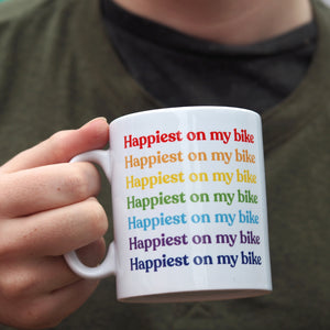 Rainbow Slogan Personalised Ceramic Mug