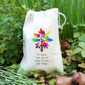 Rainbow Tree Seed Gift Bag