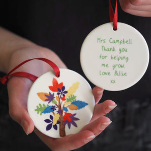 Rainbow Tree Decoration Ceramic Keepsake