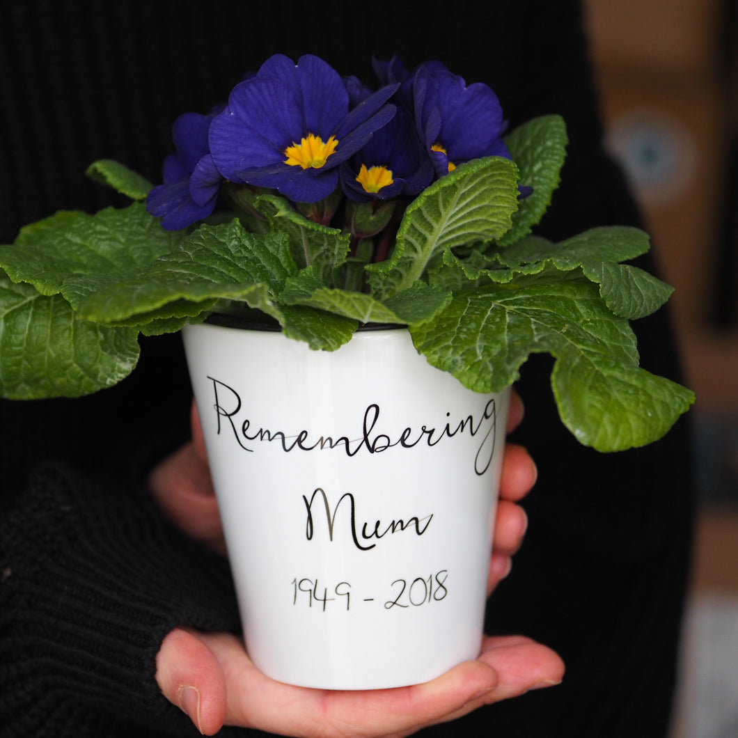 Remembrance Flower Pot Gift