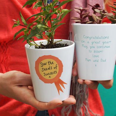 Rosette Graduate Personalised Plant Pot Gift
