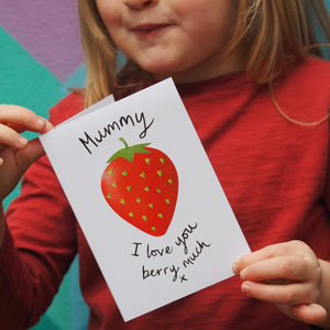 Strawberry Mother's Day card - with strawberry seeds?