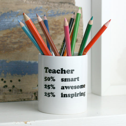 Personalised Percentage Desk Tidy Teacher Gift