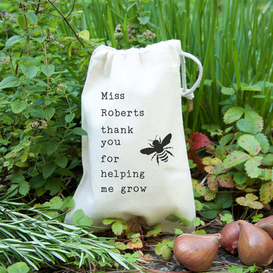 Bumble Bee Teacher's Seed Bag Gift