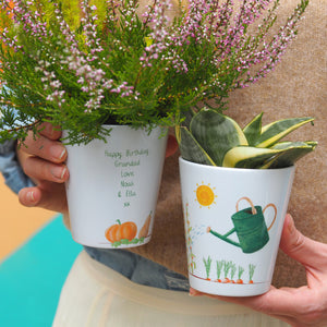 Vegetable Garden Plant Pot personalised with seeds