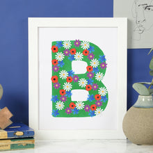 Load image into Gallery viewer, Wildflower Alphabet Print