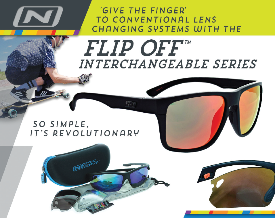 Introducing the Flip Off™ Interchangeable Series by Optic Nerve