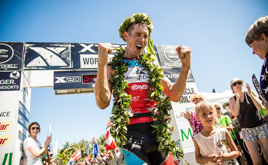 Team Nerve's Josiah Middaugh has a victory  at the 2015 Xterra Worlds
