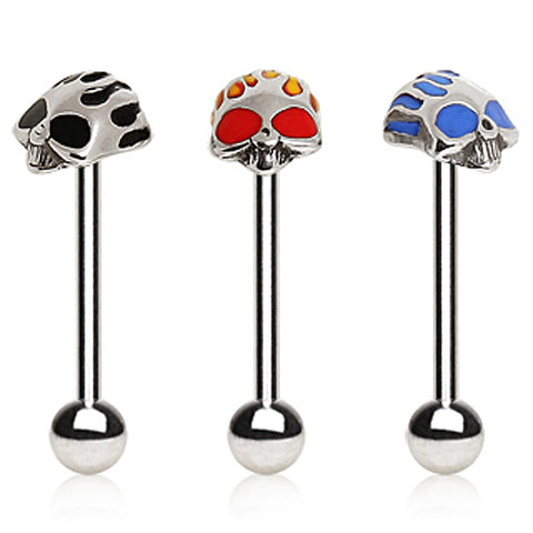 316L Surgical Steel Barbell with Skull head