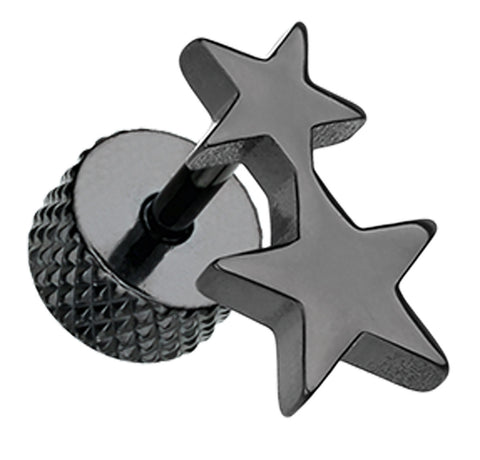 Blackline Double Star 316L Surgical Steel Fake Plug
