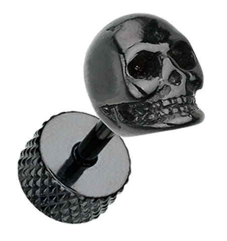 Blackline Death Skull 316L Surgical Steel Fake Plug
