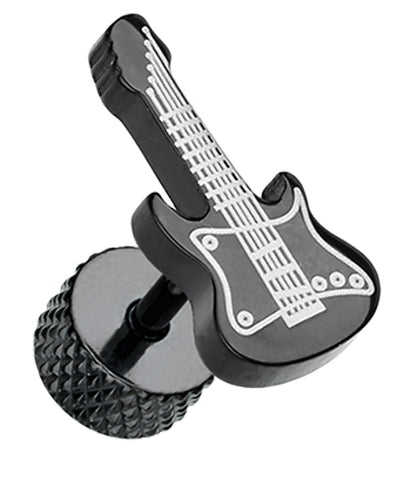 Blackline Rockstar Guitar 316L Surgical Steel Fake Plug