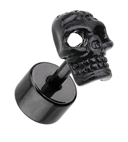 Blackline Savage Skull 316L Surgical Steel Fake Plug