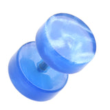 "UV Lava Acrylic Fake Plug - 16 GA (1.2mm) - Ball Size: 5/16"" (8mm) - Blue - Sold as a Pair"