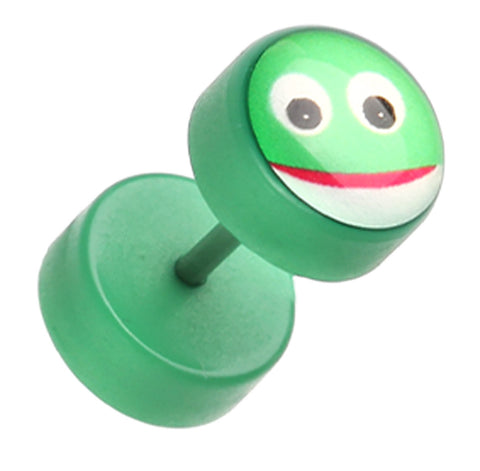 Adorable Frog Acrylic Fake Plug