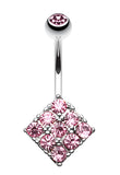 Sparkle Overload Belly Button Ring - 14 GA (1.6mm) - Light Pink - Sold Individually