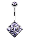 Sparkle Overload Belly Button Ring - 14 GA (1.6mm) - Blue - Sold Individually