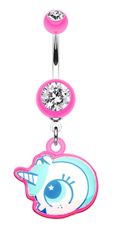 Baby Unicorn Belly Button Ring - 14 GA (1.6mm) - Pink - Sold Individually
