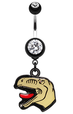 Ralph The Raptor Belly Button Ring - 14 GA (1.6mm) - Black - Sold Individually