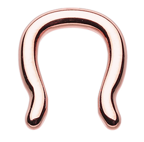 Rose Gold Colored PVD 316L Surgical Steel Septum Ring - 14 GA (1.6mm)  - Sold as a Pair