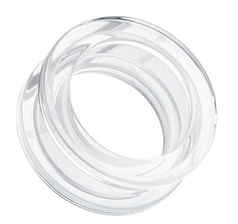 Acrylic Screw-Fit Ear Gauge Tunnel Plug - 0 GA (8mm) - Clear - Sold as a Pair