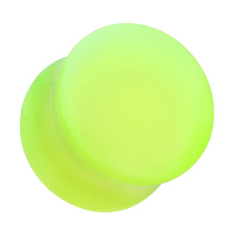 "Glow in the Dark Acrylic Double Flared Ear Gauge Plug - 9/16"" (14mm) - Green - Sold as a Pair"