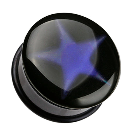 "Thermotropic Star Single Flared Mood Plug - 3/4"" (19mm)  - Sold as a Pair"