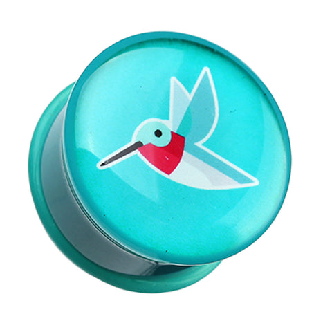 "Papier Hummingbird Single Flared Ear Gauge Plug - 3/4"" (19mm)  - Sold as a Pair"