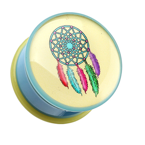 "Retro Dream Catcher Single Flared Ear Gauge Plug - 1/2"" (12.5mm)  - Sold as a Pair"