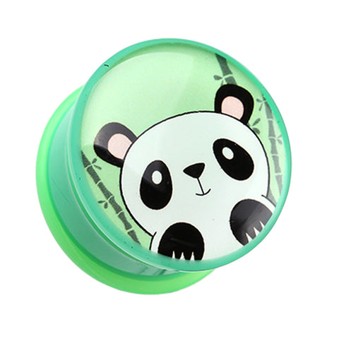 "Bamboo Panda Single Flared Ear Gauge Plug - 7/16"" (11mm)  - Sold as a Pair"