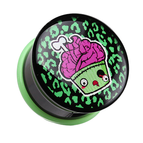 "Zombie Cupcake Single Flared Ear Gauge Plug - 7/8"" (22mm)  - Sold as a Pair"