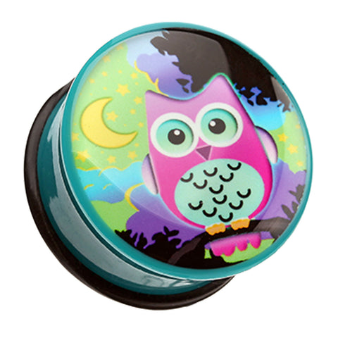 "Midnight Owl Single Flared Ear Gauge Plug - 1/2"" (12.5mm)  - Sold as a Pair"