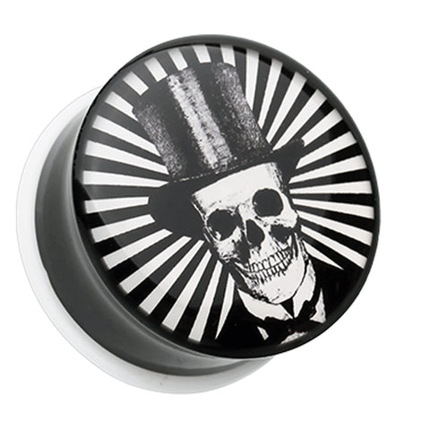 "The Depper Skull Single Flared Ear Gauge Plug - 1/2"" (12.5mm)  - Sold as a Pair"