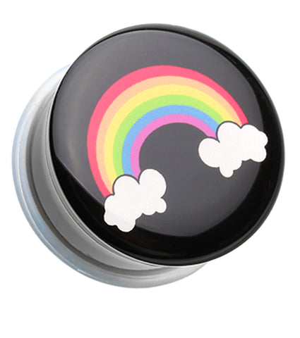 "Rainbow On Clouds Single Flared Ear Gauge Plug - 1/2"" (12.5mm)  - Sold as a Pair"