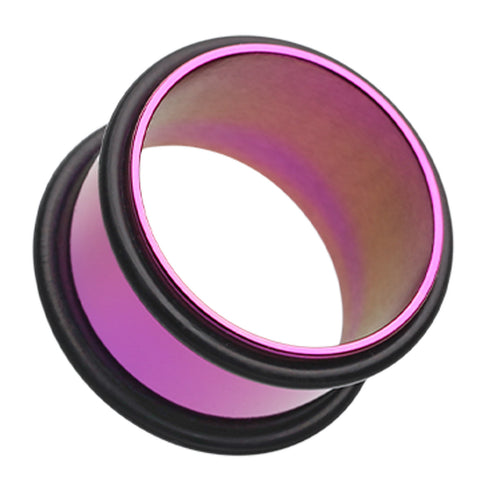 "Colorline No Flare Ear Gauge Tunnel Plug - 1"" (25mm) - Purple - Sold as a Pair"