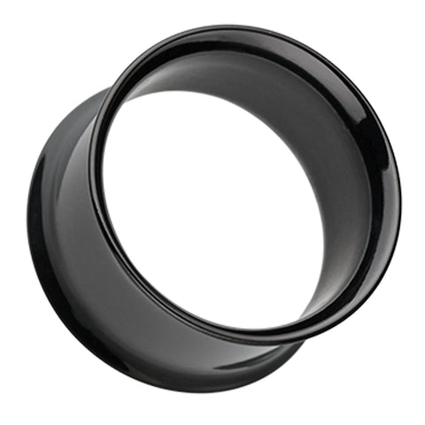 "Colorline 316L Surgical Steel Double Flared Ear Gauge Tunnel Plug - 23/32"" (18mm) - Black - Sold as a Pair"